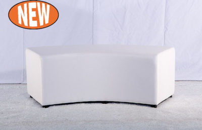 Curved White Ottoman