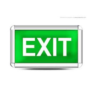 Illuminated Exit signs