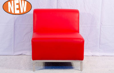 Studio Single Seat Lounge - Red