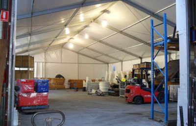Warehouse 15m Marquee on 4m leg height